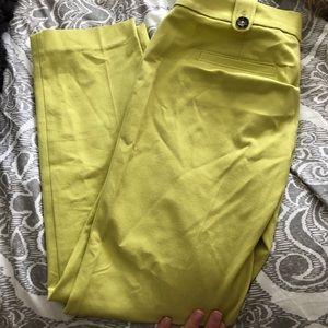 Banana Republic lime green ankle pants